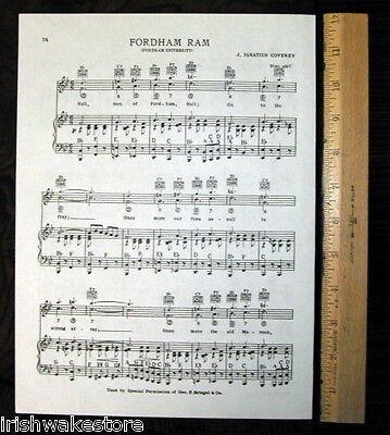 "GONZAGA UNIVERSITY Vintage Song Sheet c 1938 /""Gonzaga Glorius/"" Original"