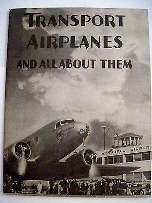"""Bright 1934 """" Transport Flugzeuge Und Alle In Etwa Diesen """" Broschüren Lockheed"""