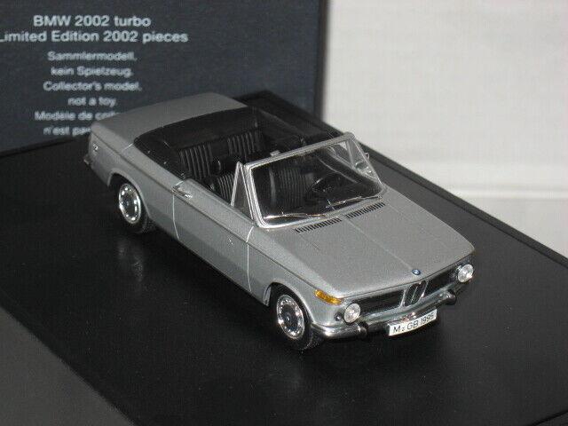 MINICHAMPS 1971 BMW 2002 E20 TURBO CABRIO CABRIOLET 1 43 Dealer édition Convertible