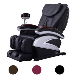 Electric Full Body Shiatsu Massage Chair Recliner w Heat Stretched Foot Rest 06C