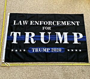 Donald Trump Flag FREE SHIPPING Veterans For Trump 2020 Cop Sign Poster 3x5/'