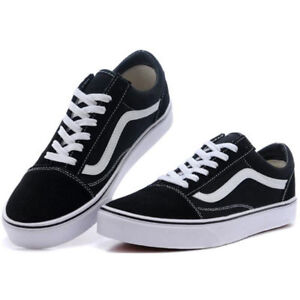 MENS-amp-WOMENS-VAN-Classic-OLD-SKOOL-Low-Top-Canvas-sneakers-Shoes-Casual