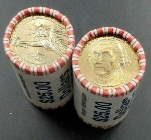 2007-D-George-Washington-Dollar-Presidential-25-Coin-BU-Unc-String-amp-Son-Roll