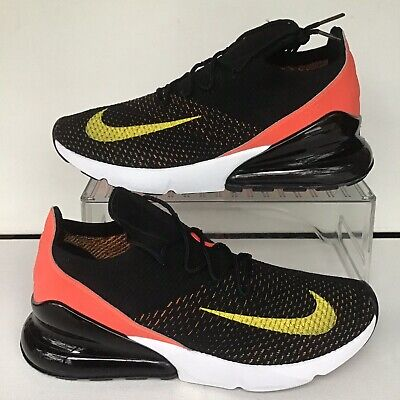 W Nike Air Max 270 Flyknit Black Yellow Strike Wmns.Sz.11.5=Mns.10 (AH6803 003) | eBay