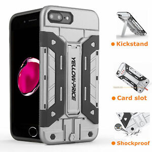 For-Apple-iPhone-X-8-7-Plus-6s-6-Tough-Shockproof-Armor-Hybrid-Wallet-Stand-Case