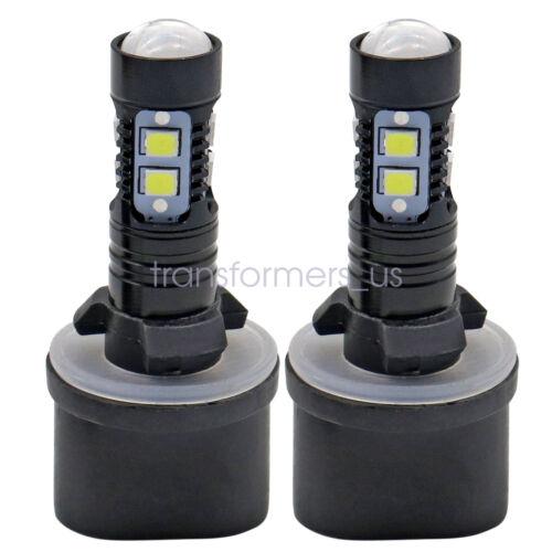 2PCS 880 890 892 893 899 100W 6000K Xenon White CREE Chip LED Fog Light Bulbs