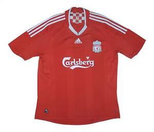 Liverpool 2008-10 ORIGINALE Maglietta (bene) L soccer jersey