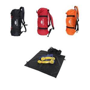 Folding Nylon Rock Tree Climbing Rope Bag Holder Storage Backpack Ground Sheet