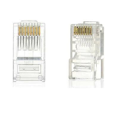 New 100PCS RJ45 RJ-45 CAT-5 Modular Plug Ethernet Gold Plated Network Connector