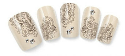Intricate Fantasy Floral Nail Art Water Decal Sticker For Natural/False Nails