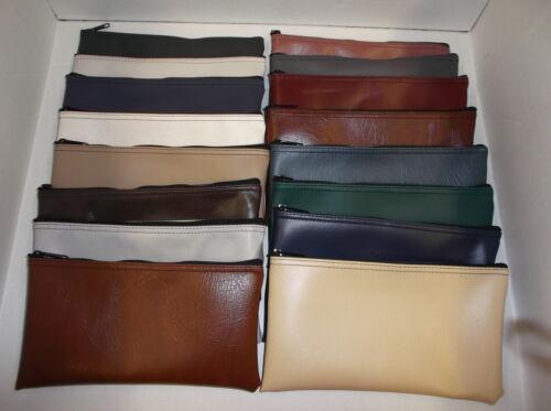 6 Pack Assorted Colors Zippered Bank Deposit Bag Security Money Organizer Lot