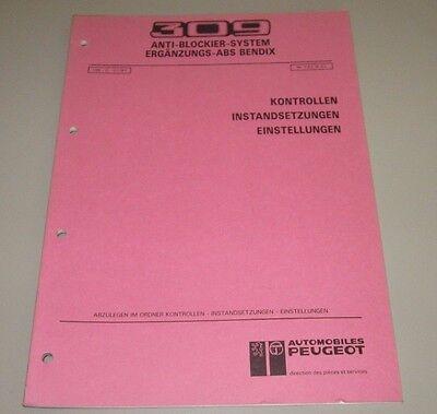 Kreativ Werkstatthandbuch Peugeot 309 Gti 16v Abs Bendix Instandsetzung Einstellung 1991