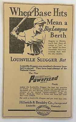 Fanartikel FäHig 1932 Hillerich & Bradsby Co.louisville Baseball Ad Warm Und Winddicht
