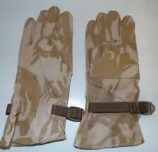 DESERT CAMO LEATHER WARM WEATER COMBAT GLOVES - Size: 12, British Military