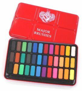 36 Colore Acquerello Pittura Blocchi Teglia Set Arista Vaschette Compresse Z1005