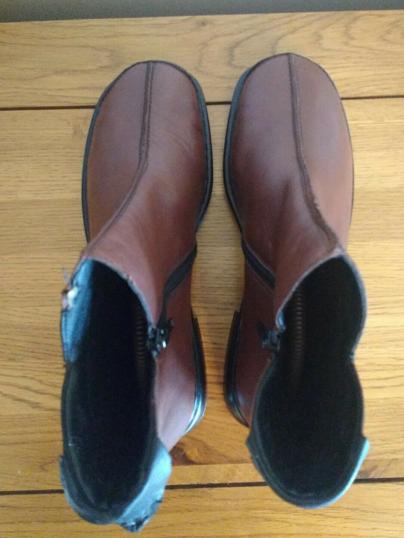NEW RIEKER Niedrig heel Stiefel comfortable Braun ankle Stiefel heel UK 6 EU 39 db841f