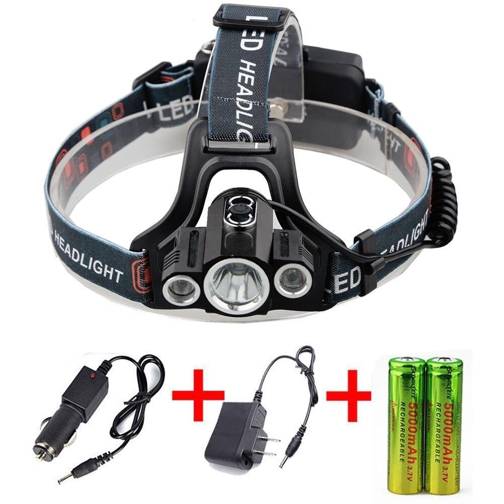 Tactical 3 X T6 LED 4 Modes HeadLamp FlashLight Headlight Torch-ORIGINAL