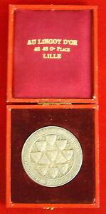 """Marque Populaire Médaille """"au Lingot D'or"""" Association Délégués Cantonaux De Lille Bronze Medal"""