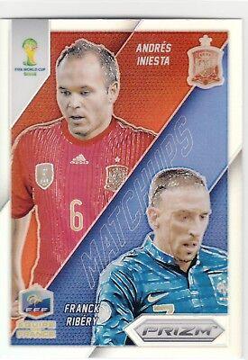 Panini Prizm Copa del Mundo 2014-MATCHUPS # 24 Iniesta//Ribery-España//Francia