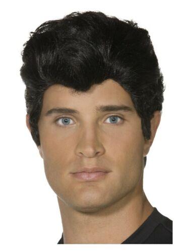 Black Danny Wig Adult 50s Grease Rocker Rock n Roll T-Bird 1950s Costume Wigs