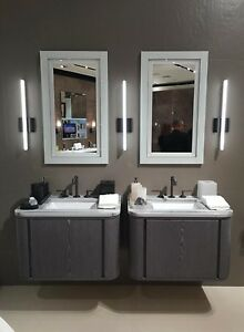 Image Is Loading White Sonneman Vanity Slim 24 034 LED Bath