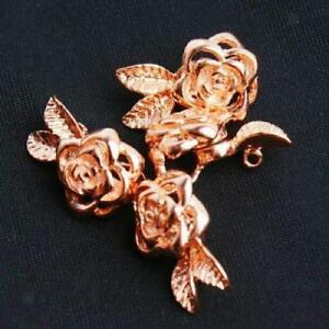 Gold Carved Rose Flower Magnetic Special Clasp Buckle Hook Jewelry Making