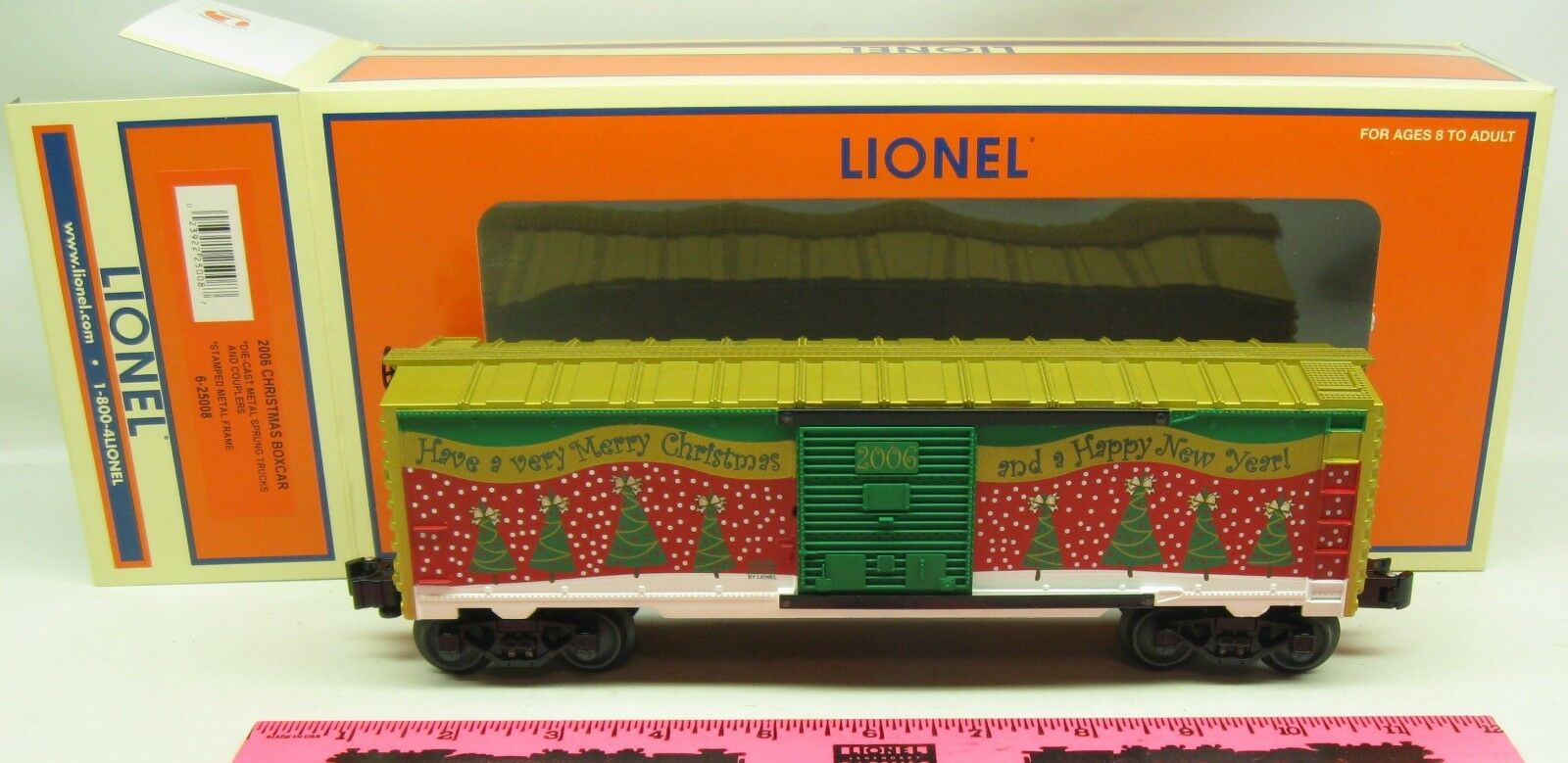 Lionel  6-25008  2006 Christmas boxcar