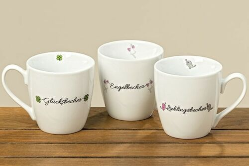 3 Jumbobecher 400 ml Kaffeetassen Spruch Küche Becher 1002790 Tasse