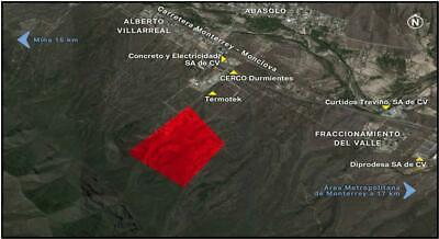 Terreno en Abasolo N.L. ubicado a 1.1 km de la Carretera Monterrey-Monclova km 19