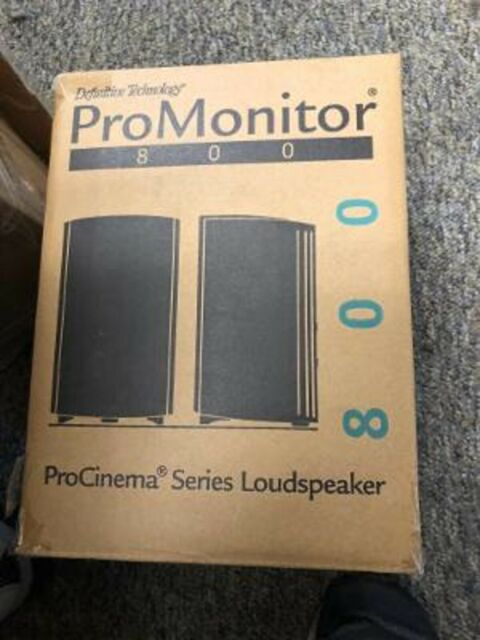 Definitive Technology ProMonitor 800 Main /BLACK Stereo Speakers sold as each!!!