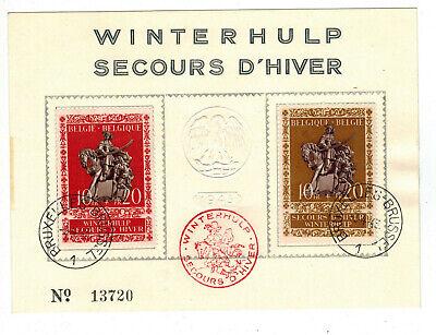 Vornehm Schmuckblatt Belgien Whw Winterhulp 1943 Mi Nr Sst Brüsssel 624 625