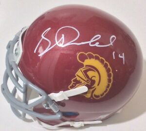 a7b578781 Image is loading SAM-DARNOLD-SIGNED-AUTOGRAPHED-USC-TROJANS-MINI-HELMET