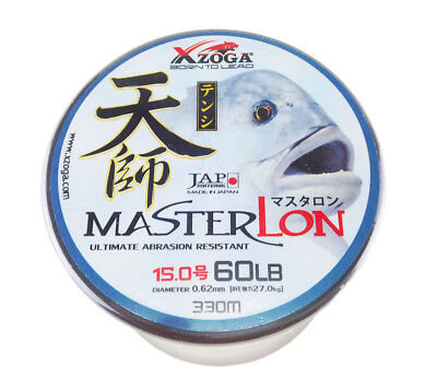 Xzoga Masterlon 60lb//330m Monofilament Fishing Line