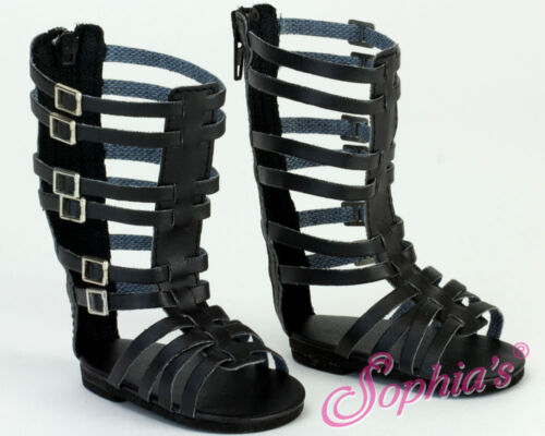 "Doll Clothes 18/"" Sandals Gladiator Black Sophia Fits American Girl Dolls"