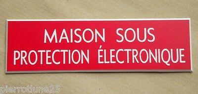 format 150 x 75 mm 2 versions plaque gravée MAISON SOUS ALARME 24//24