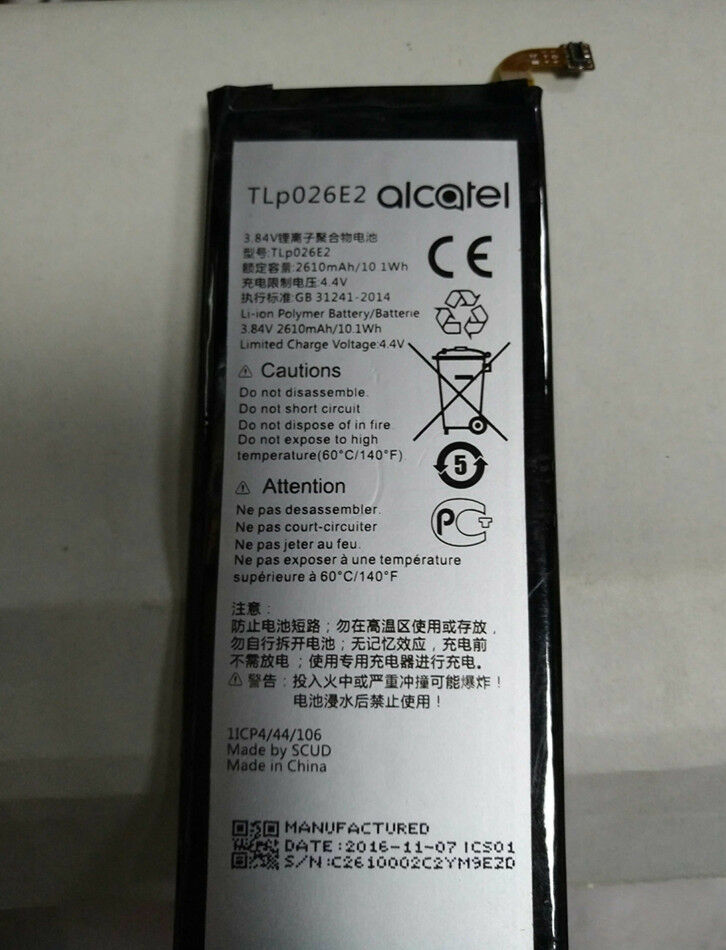 Details about TLp026E2 - Genuine 2610mAh Battery for Alcatel Idol 4 6055U  Cricket Smartphone