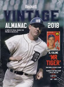 2018-Beckett-Vintage-Almanac-2018-sealed-copy-Al-Kaline-Cover-All-Sports