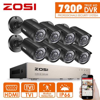 ZOSI 8CH HD 720P DVR CCTV Überwachungsset Außen Video Überwachungskamera System