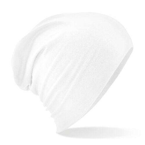 B368 Beechfield Hemsedal Cotton Slouch Beanie Hat High Density Micro Knit