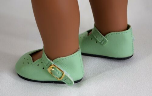 "Shoes Light Green Dressy w// Strap For 18/"" American Girl Doll Accessories Clothes"