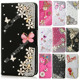 For-Samsung-Luxury-Bling-Diamond-Leather-Flip-Wallet-Case-Cover-Hot-Phone-Shell