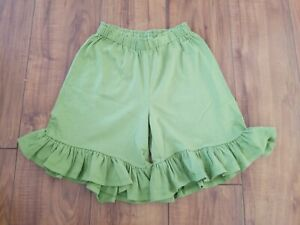 PERSNICKETY-Boutique-Green-Ruffle-Bottom-Shorts-GIRLS-SZ-6-YRS