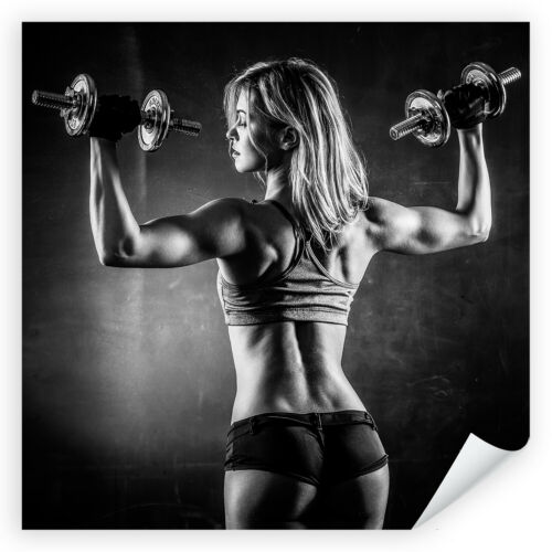Frau Fitness Hantel Sport Training Poster /& Leinwand Postereck 3533 Quadrat