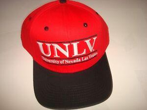a8480c0f169 UNLV RUNNIN REBELS THE GAME SKATE NEW DEADSTOCK VINT SCRIPT HAT CAP ...