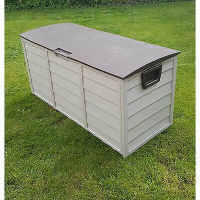 Outdoor Garden Plastic Storage Utility Chest Cushion Shed Box 290L