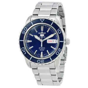 Seiko-Fifty-Five-Fathoms-Automatic-Blue-Dial-Men-039-s-Watch-SNZH53