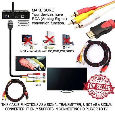FidgetFidget 5Ft HDMI Male to 3 RCA Video Audio Converter Component AV Adapter Cable HDTV