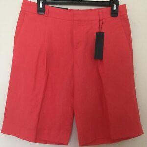 638f6b5c49 New Banana Republic Womens Short Bermuda Size 2 Orange Pleated Front ...