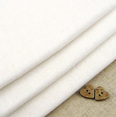 Robert Kaufman Essex White Linen Blend Fabric / quilting dressmaking