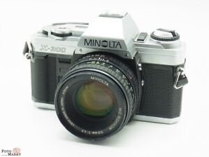 Set: Minolta X-300 SLR Fotocamera Con Obiettivo Md Rokkor 50mm 1,7 ( Ø55mm )